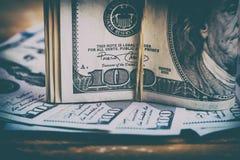 Dólares de EE. UU. de la moneda Fotos de archivo libres de regalías