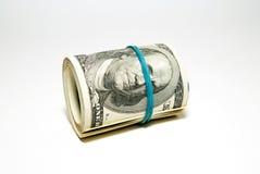 Dólares de EE. UU. de los billetes de banco relacionados con la pila Fotografía de archivo libre de regalías