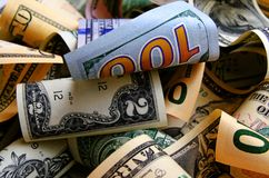Dólares de EE. UU. del efectivo Imagen de archivo libre de regalías
