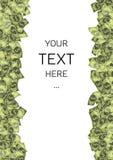Dólares de fondo con el texto de la muestra Imagen de archivo libre de regalías