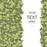 Dólares de fondo con el texto de la muestra en cuadrado Fotos de archivo