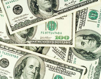 Dólares de fondo de los billetes de banco Imagenes de archivo