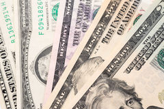 Dólares de fondo de los billetes de banco Fotos de archivo libres de regalías