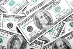 Dólares de fondo de los billetes de banco Foto de archivo