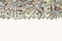100 dólares de fondo de los billetes de banco Imagen de archivo libre de regalías