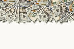 100 dólares de fundo das cédulas Imagem de Stock Royalty Free