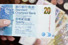 20 dólares de Hong Kong Fotos de Stock