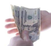 Dólares de la paga Fotos de archivo libres de regalías