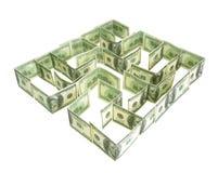 Dólares de laberinto Imagen de archivo libre de regalías