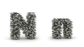Dólares de letra N Ilustração Stock