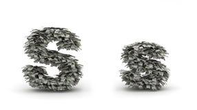 Dólares de letra S Ilustração do Vetor