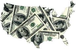Dólares de los E.E.U.U. Fotografía de archivo