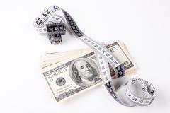 Dólares de medición Imagen de archivo libre de regalías