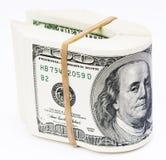 Dólares de nota fotografía de archivo libre de regalías