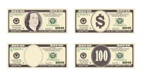 100 dólares de nota de banco Foto de Stock Royalty Free