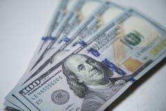 100 dólares de notas Foto de Stock Royalty Free