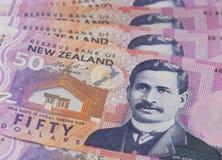 Dólares de Nova Zelândia Foto de Stock Royalty Free