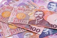 Dólares de Nueva Zelandia Imágenes de archivo libres de regalías