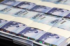 Dólares de nuevo Taiwán en pilas fotografía de archivo libre de regalías