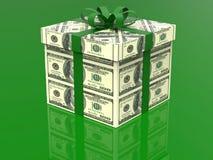 100 dólares de regalo del dinero stock de ilustración