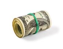 Dólares de rodillo Foto de archivo libre de regalías
