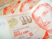 Dólares de Singapur Foto de archivo libre de regalías