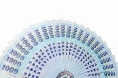 1000 dólares de Taiwan novos Foto de Stock Royalty Free