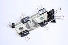 Dólares de um hundret Foto de Stock