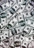 Dólares del americano del dinero Foto de archivo libre de regalías