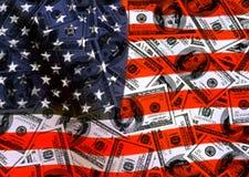Dólares del americano del dinero en circulación Foto de archivo libre de regalías