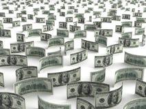 Dólares dispersados Fotografia de Stock