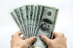 Dólares a disposición Imagen de archivo