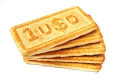 Dólares do biscoito Imagem de Stock