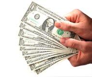 Dólares do dinheiro Fotos de Stock