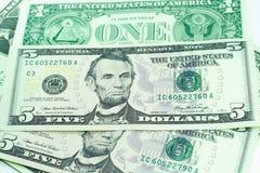 Dólares do dinheiro Imagem de Stock