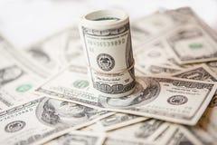 Dólares do dinheiro da moeda Fotos de Stock