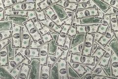 Dólares do dinheiro do dinheiro Fotografia de Stock