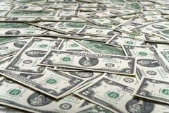 Dólares do dinheiro do dinheiro Imagens de Stock