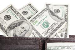 Dólares do dinheiro em um fundo branco Imagem de Stock Royalty Free