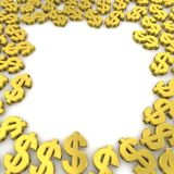 Dólares do frame Foto de Stock