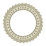 Dólares do frame Imagem de Stock Royalty Free