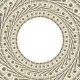 Dólares do frame Fotografia de Stock