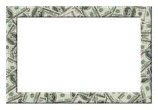Dólares do frame Isolado Imagens de Stock Royalty Free