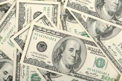 Dólares do fundo Imagens de Stock
