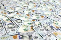 Dólares do fundo da pilha fotos de stock royalty free