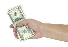 Dólares do fundo do branco Imagem de Stock