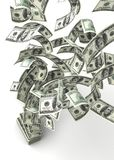 Dólares do vôo Foto de Stock Royalty Free