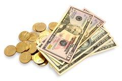 Dólares dos euro Imagem de Stock