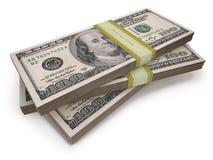 Dólares dos punhados Foto de Stock Royalty Free