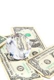 Dólares e diamante Fotos de Stock Royalty Free